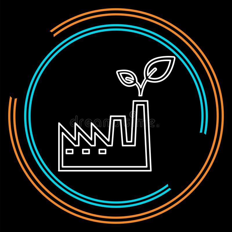 Symbol för ECO-kraftverk- och lätthetsvektor royaltyfri illustrationer