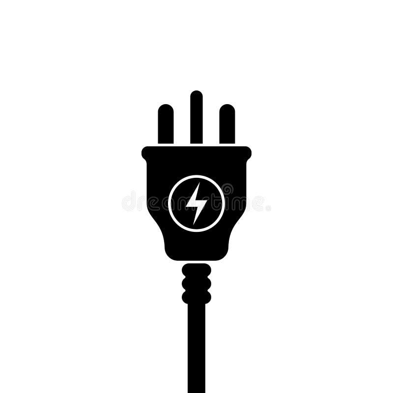 Symbol för elektrisk propp för UK, symbol Förenade kungariket Storbritannien normal Blixttecken vektor illustrationer