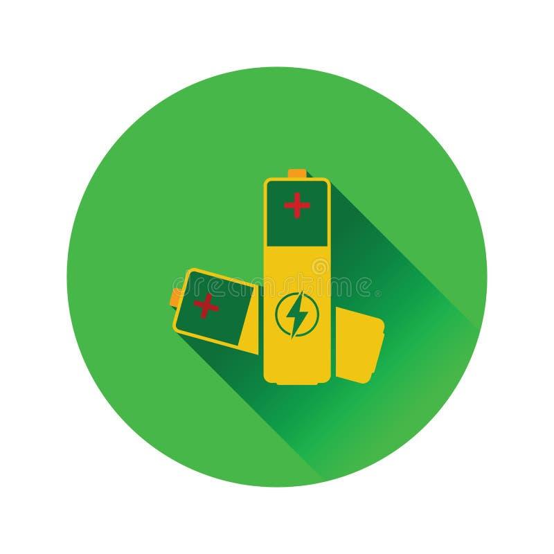 Symbol för elektriskt batteri stock illustrationer
