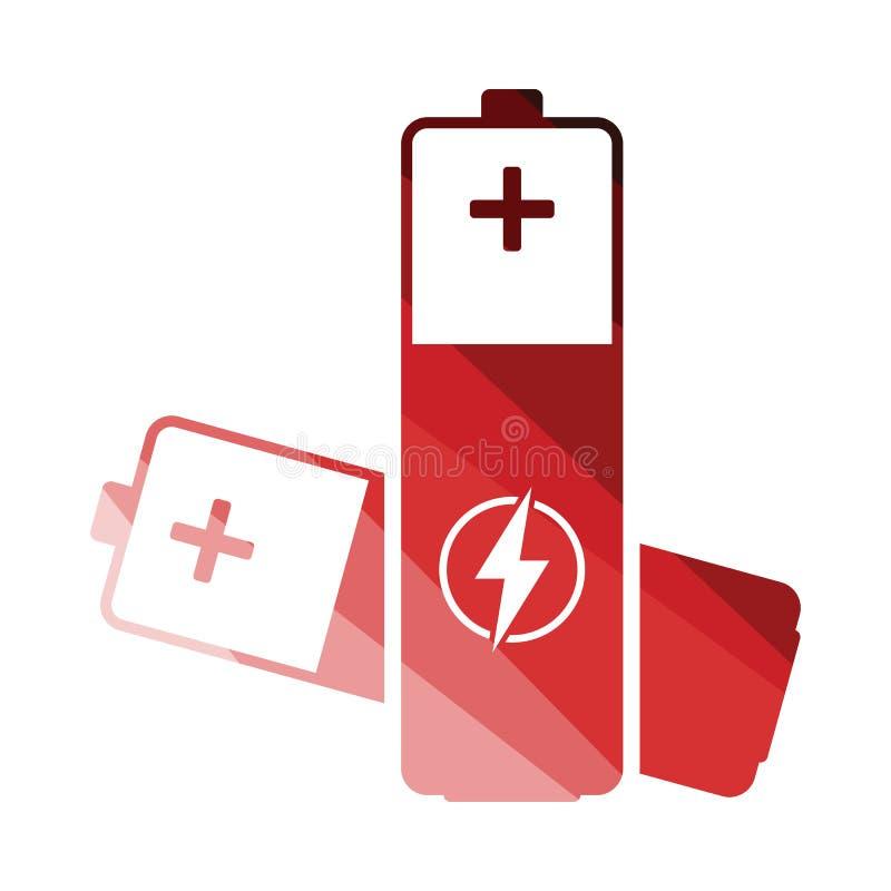 Symbol för elektriskt batteri vektor illustrationer