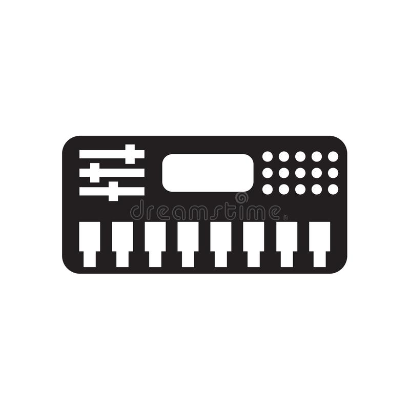 Symbol för elektronisk musik som isoleras på vit bakgrund vektor illustrationer