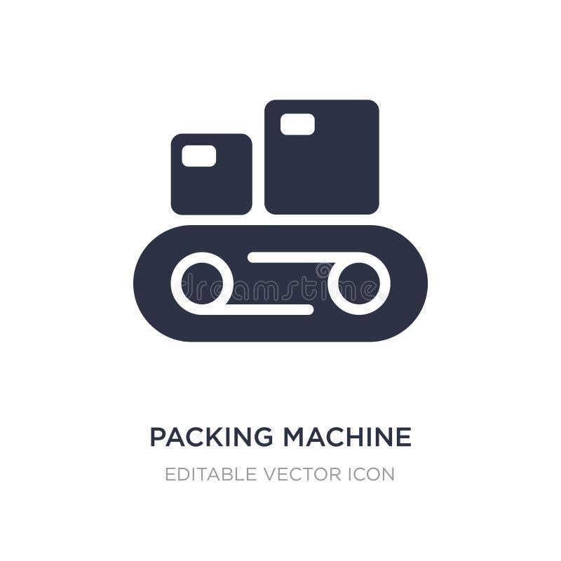 symbol för emballagemaskin på vit bakgrund Enkel beståndsdelillustration från hjälpmedel- och redskapbegrepp stock illustrationer