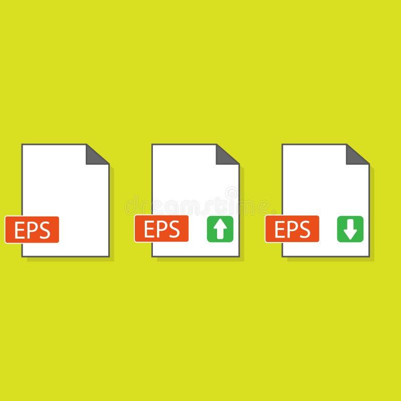 Symbol för EPS-mappformat, vektorillustration S?nka designstil illustration för symbol för format för vektorEPS-mapp som isoleras stock illustrationer