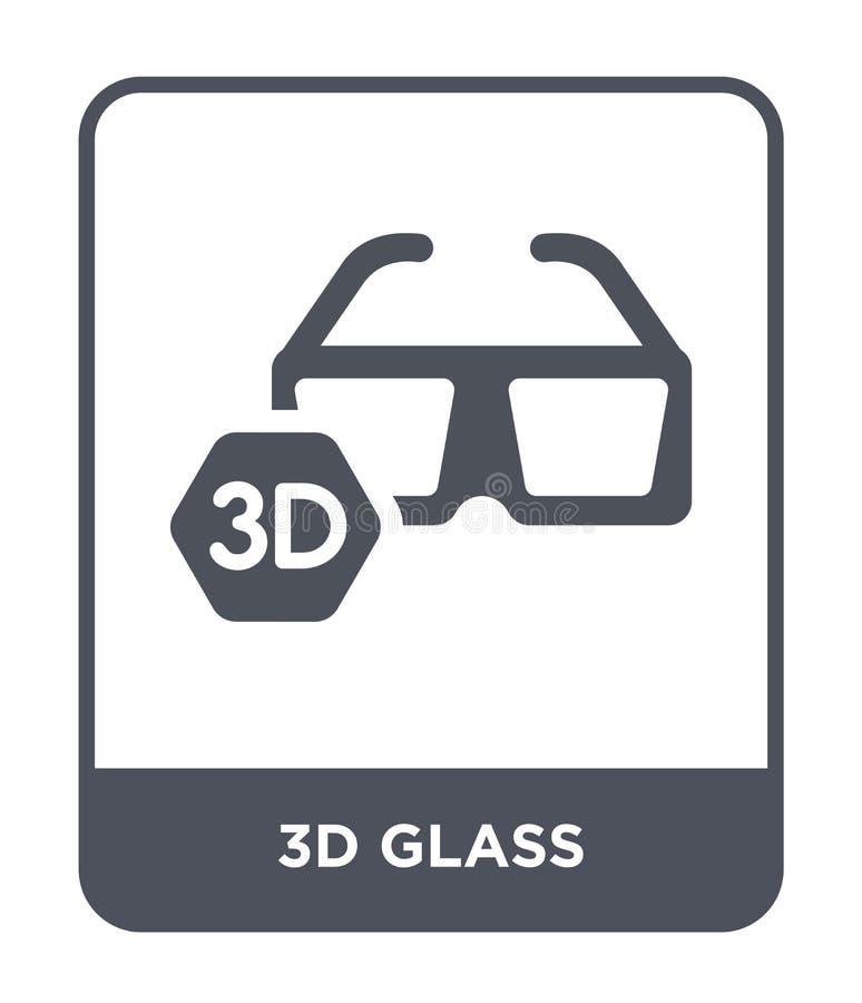 symbol för exponeringsglas 3d i moderiktig designstil symbol för exponeringsglas som 3d isoleras på vit bakgrund för vektorsymbol stock illustrationer