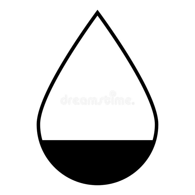 Symbol för färg för droppsymbolssvart vektor illustrationer