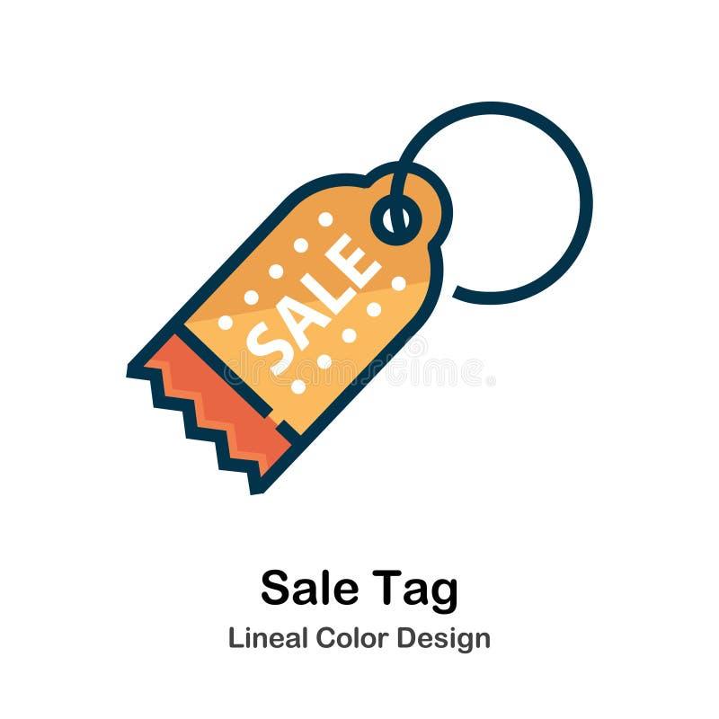 Symbol för färg för Sale etikett direkt royaltyfri illustrationer