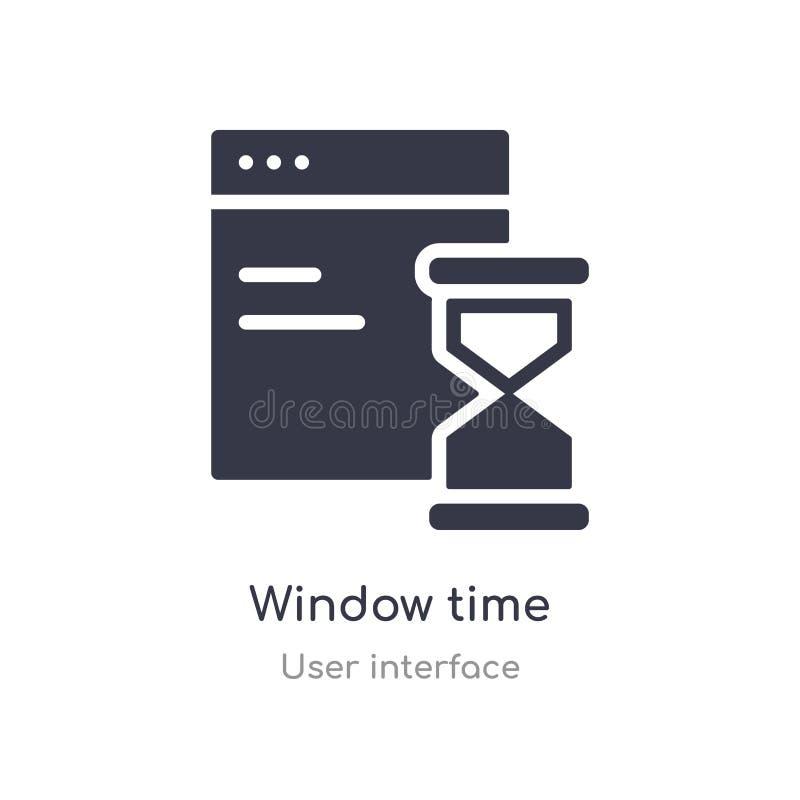 symbol för fönstertidöversikt isolerad linje vektorillustration fr?n anv?ndargr?nssnittsamling redigerbar tunn symbol för slaglän vektor illustrationer