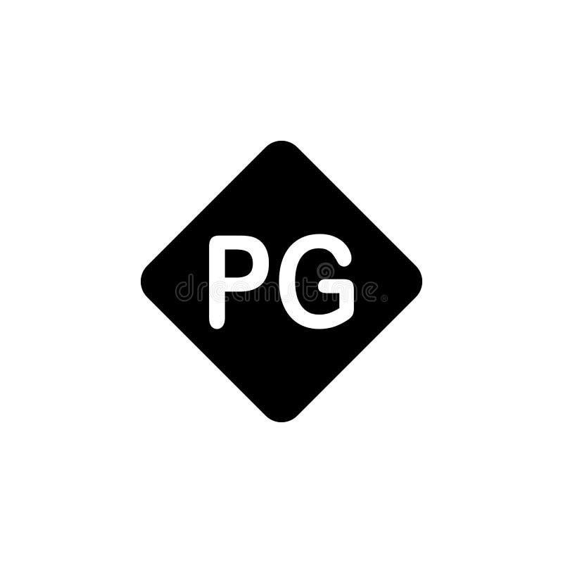 symbol för föräldra- kontroll Beståndsdel av biosymbolen Högvärdig kvalitets- symbol för grafisk design Tecken och symbolsamlings royaltyfri illustrationer
