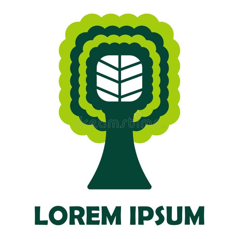Symbol för företags identitet för trädgräsplanföretag isolerad vektor illustrationer