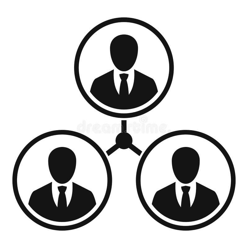 Symbol för förhållande för affärsfolk, enkel stil vektor illustrationer