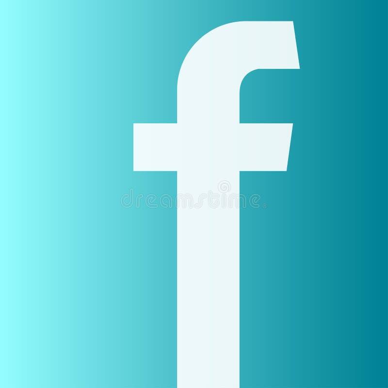 Symbol för Facebook aero konstlogo vektor illustrationer