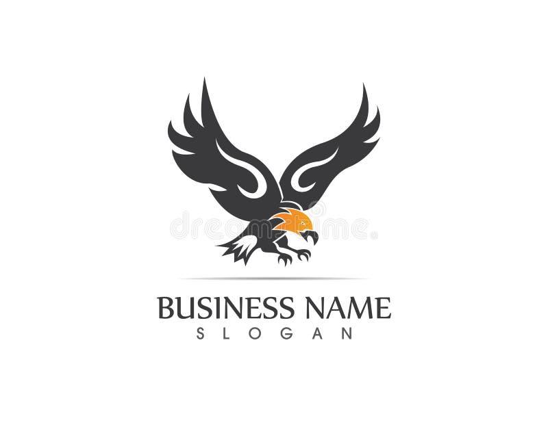 Symbol för falkEagle Bird Logo Template vektor vektor illustrationer