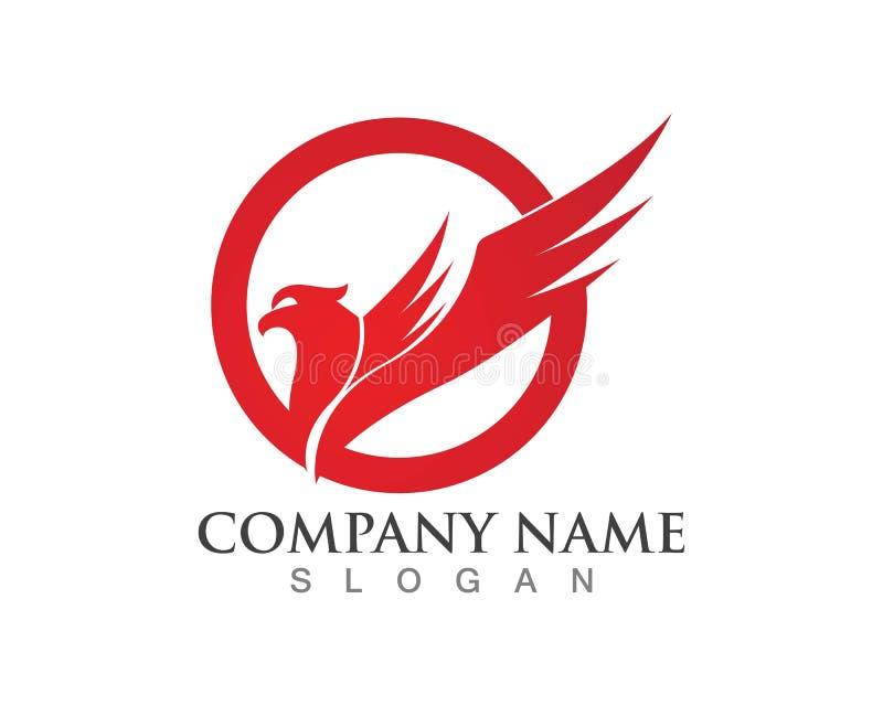 Symbol för falkEagle Bird Logo Template vektor royaltyfri illustrationer