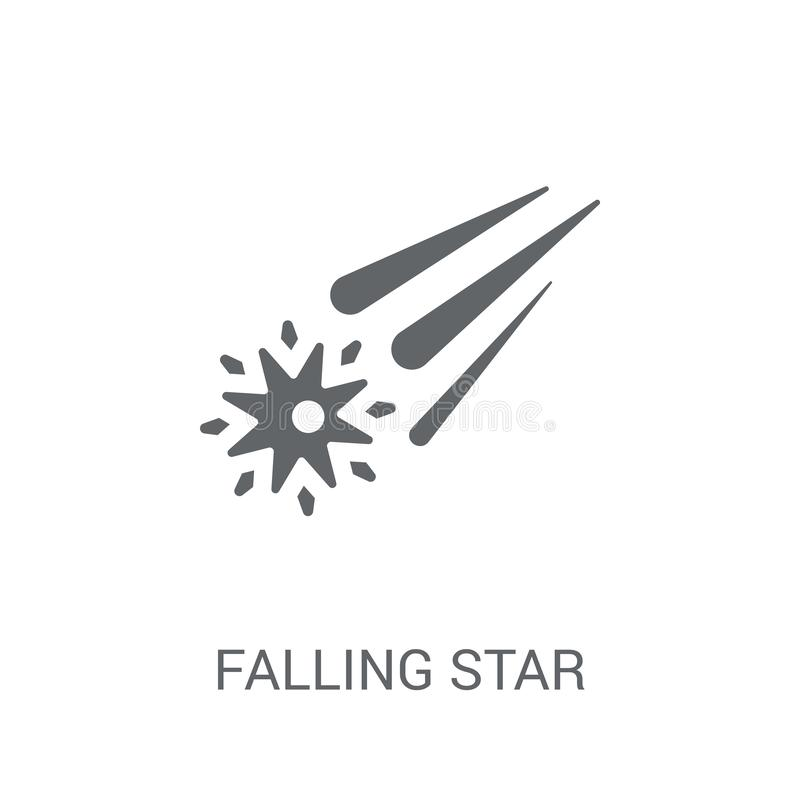 Symbol för fallande stjärna  vektor illustrationer