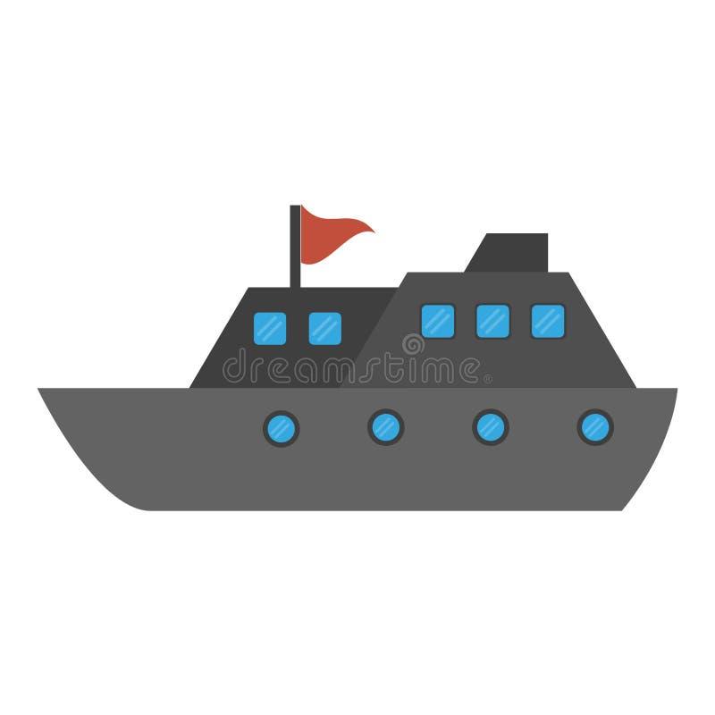Symbol för fartyg för kryssningskepp royaltyfri illustrationer