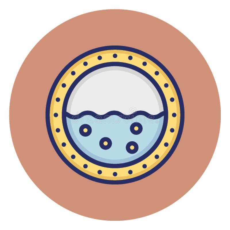 Symbol för fartyghyttventilvektor som kan lätt redigera vektor illustrationer