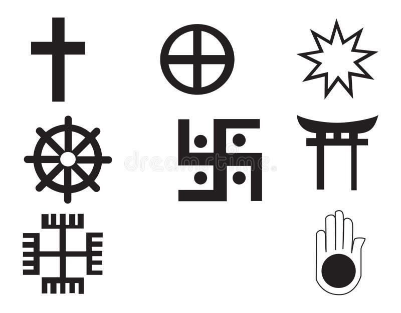 symbol för fem inföding för afrikansk amerikan olikt stock illustrationer