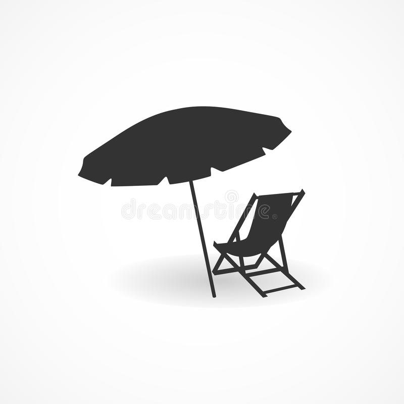 Symbol för ferier för vektorbildsommar stock illustrationer