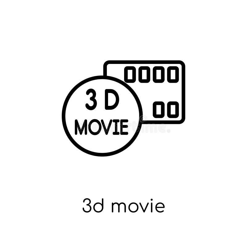 symbol för film 3d  royaltyfri illustrationer