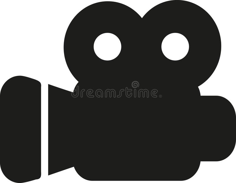 Symbol för filmkamera vektor illustrationer