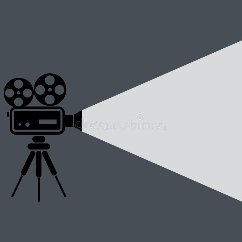 Symbol för filmprojektor vektor illustrationer