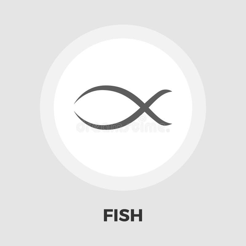Symbol för fiskvektorlägenhet royaltyfri illustrationer