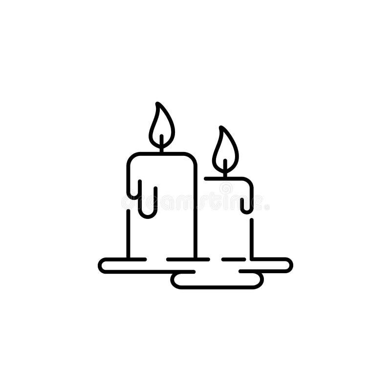 Symbol för flamma för stearinljusDiwali fackla på vit bakgrund Diwali hinduiska festivalbeståndsdelar för diagram och rengöringsd stock illustrationer