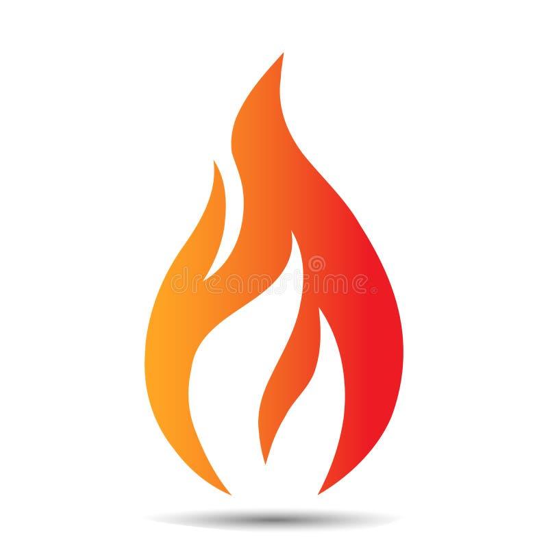 Symbol för flammalogodesign Idérik brandbegreppsmall för fossila bränslenföretag, rengöringsduk eller mobil app också vektor för  vektor illustrationer