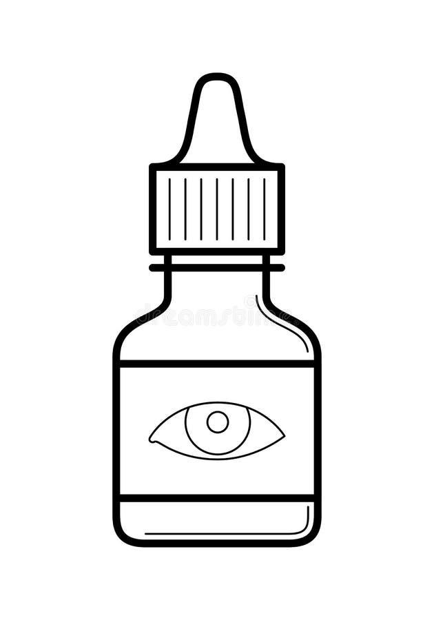 Symbol för flaska för ögondroppar plast-, vektorillustration royaltyfri illustrationer