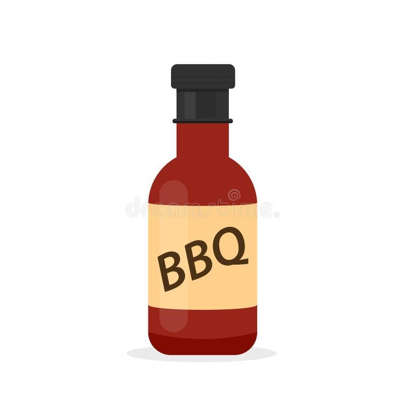 Symbol för flaska för grillfestsås vektor illustrationer