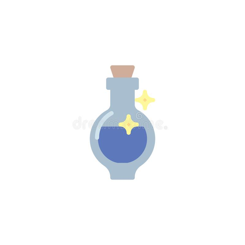 Symbol för flaska för magisk dryck plan stock illustrationer