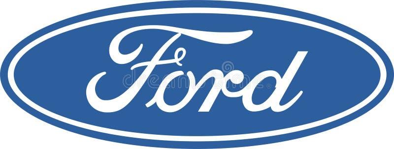 Symbol för Ford företagslogo royaltyfri illustrationer