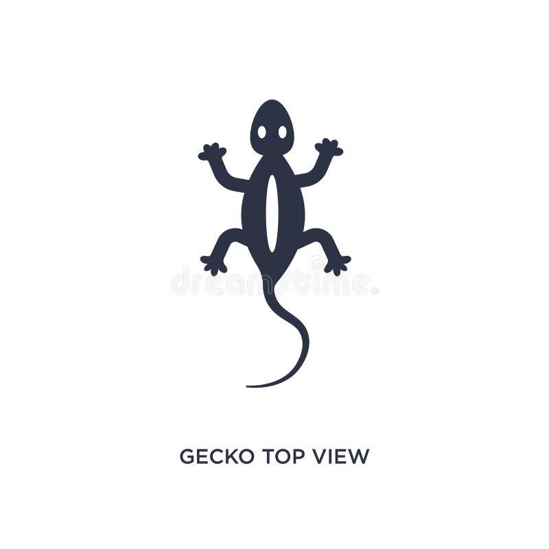 symbol för form för bästa sikt för gecko på vit bakgrund Enkel beståndsdelillustration från kulturbegrepp stock illustrationer
