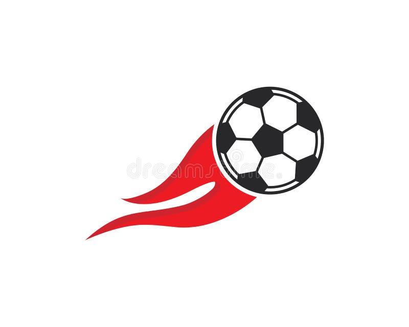 Symbol för fotbollboll Logo Vector illustration vektor illustrationer