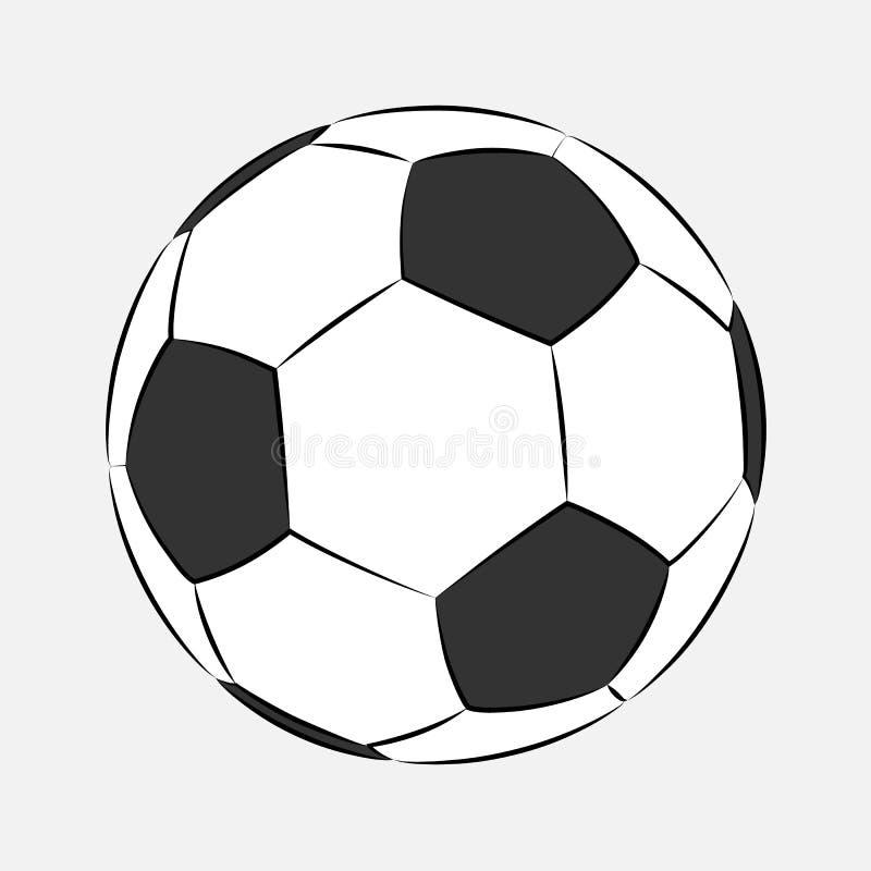 Symbol för fotbollfotbollboll som isoleras på vit bakgrund Logo Vector illustration Tecknad filmstätta Fotbollsportsymbol, mästar vektor illustrationer