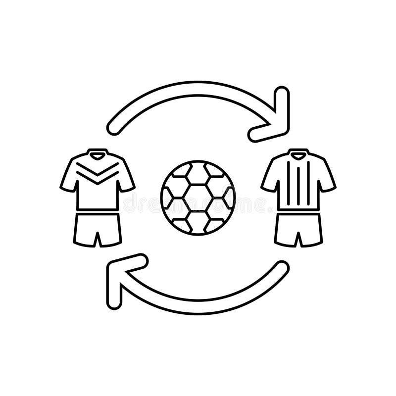 Symbol för fotbollsspelareöverföringsöversikt royaltyfri illustrationer