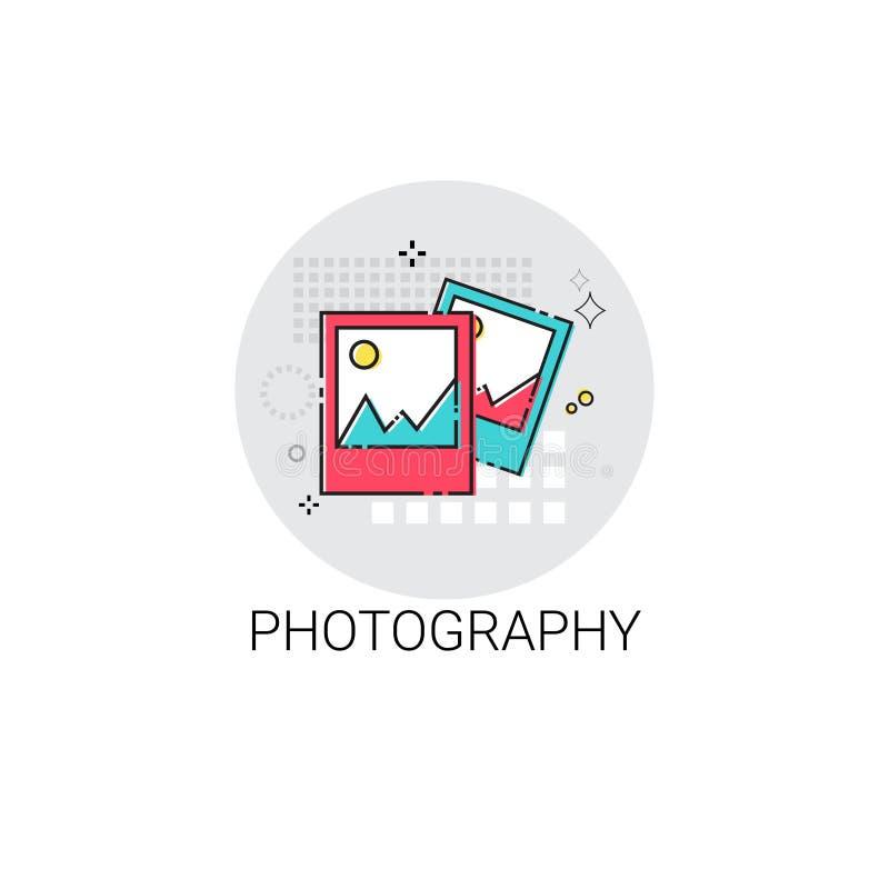 Symbol för foto för bild för fotografikortbild vektor illustrationer