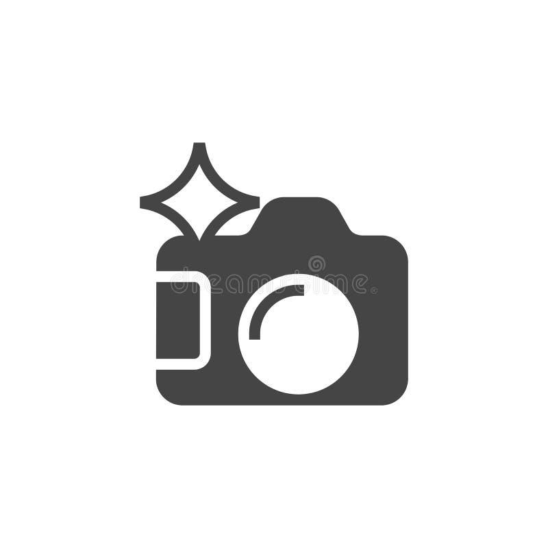 Symbol för fotokameraskåra Fotografer bearbetar grafiskt symbol Plan pictogram för svart för manöverenhet och lek vektor stock illustrationer