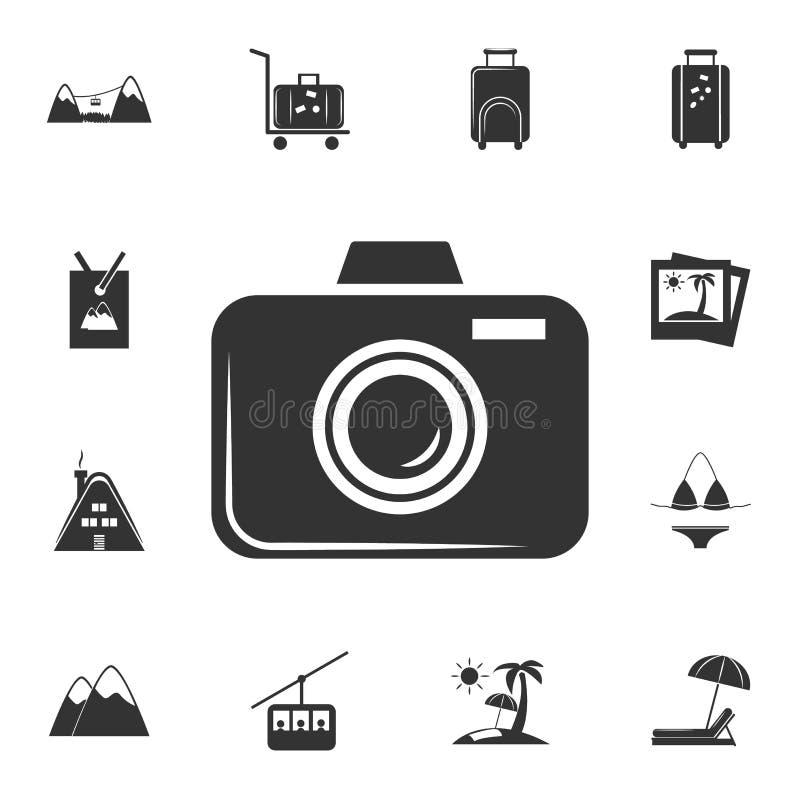 symbol för fotokameravektor Detaljerad uppsättning av loppsymboler Högvärdig grafisk design En av samlingssymbolerna för websites stock illustrationer