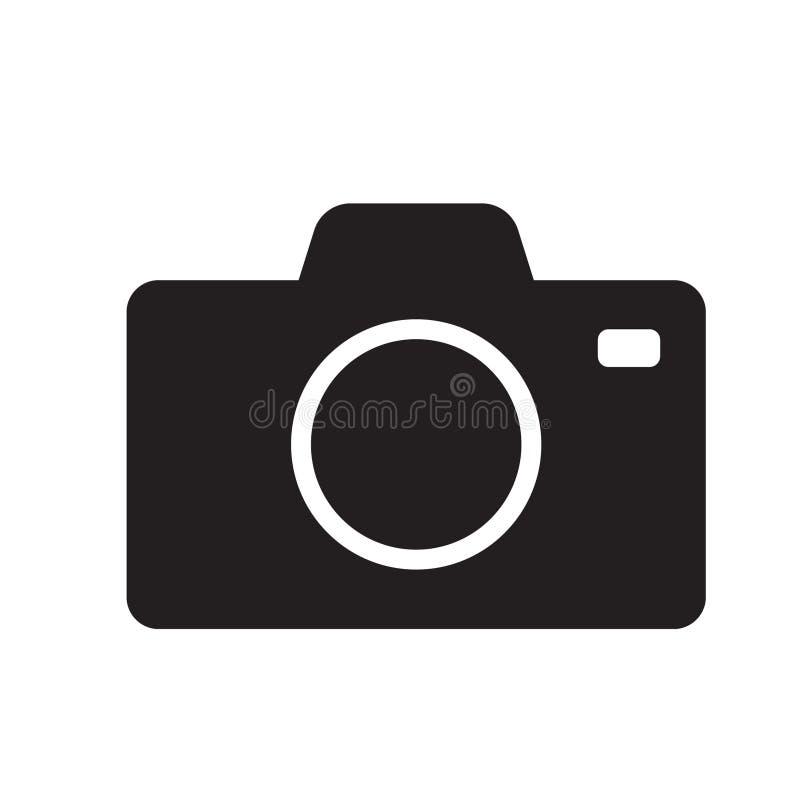 symbol för fotokameravektor royaltyfri illustrationer