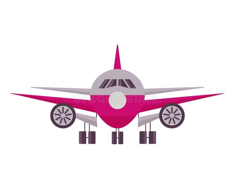 Symbol för främre sikt för flygplan royaltyfri illustrationer