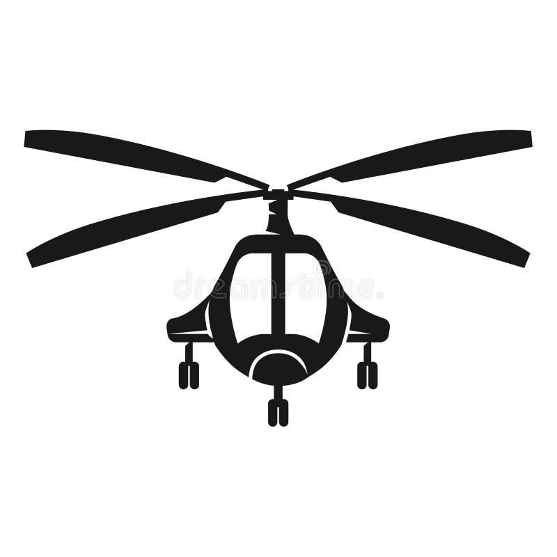 Symbol för främre sikt för passagerarehelikopter, enkel stil royaltyfri illustrationer