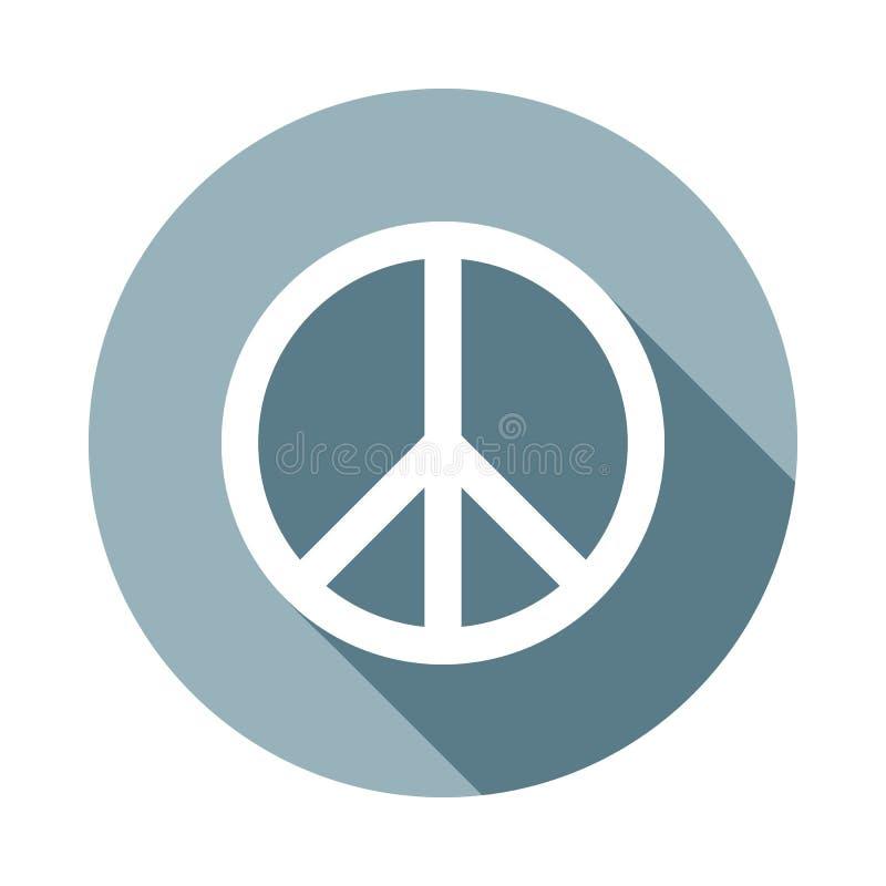 symbol för fredtecken i plan lång skuggastil En av rengöringsduksamlingssymbolen kan användas för UI, UX vektor illustrationer