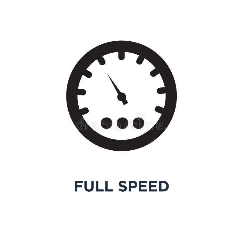 Symbol för full hastighet Enkel beståndsdelillustration Begrepp för full hastighet royaltyfri illustrationer