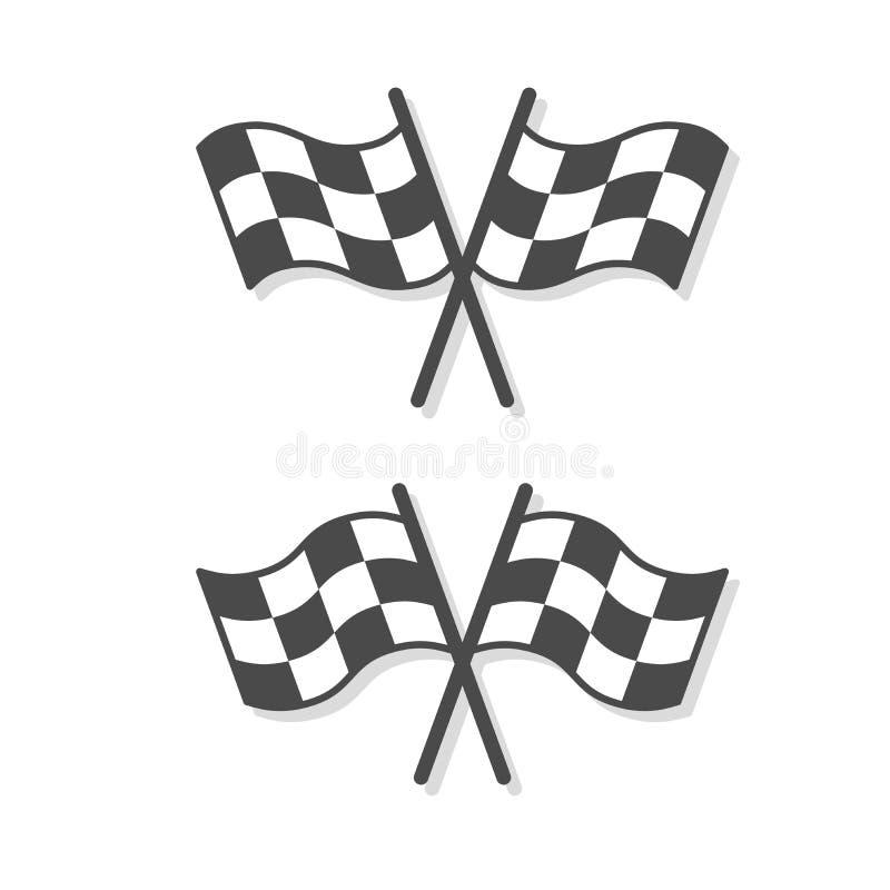 Symbol för fullföljandeflaggavektor royaltyfri illustrationer