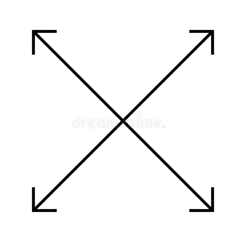Symbol för fyra pilar på vit bakgrund Plan stil fyra pilar ic vektor illustrationer
