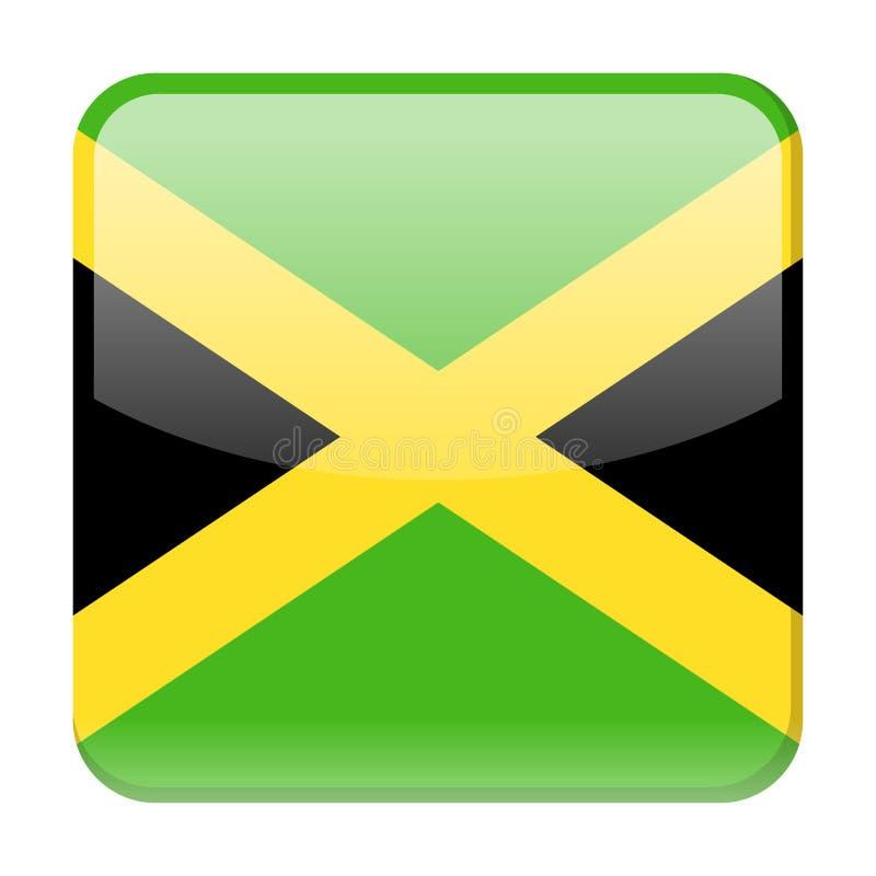 Symbol för fyrkant för Jamaica flaggavektor royaltyfri illustrationer