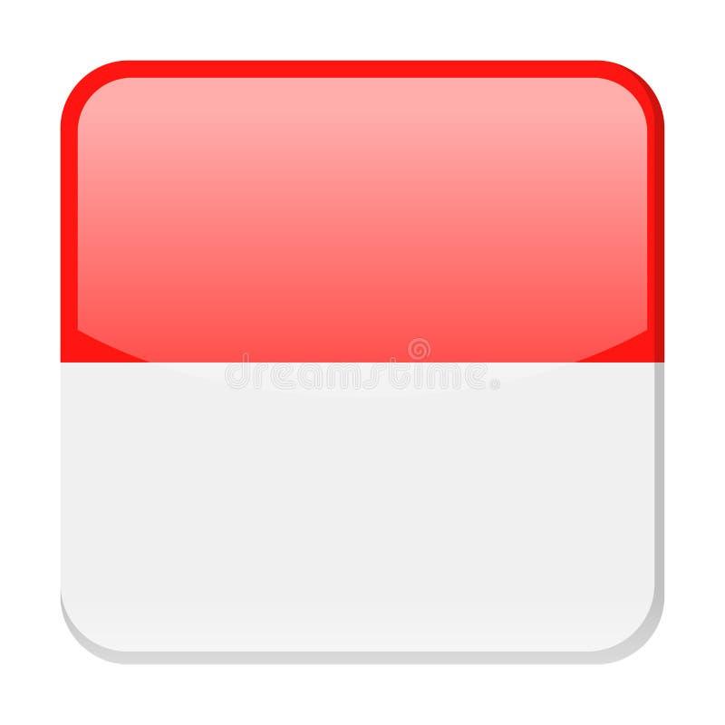 Symbol för fyrkant för Monaco flaggavektor stock illustrationer