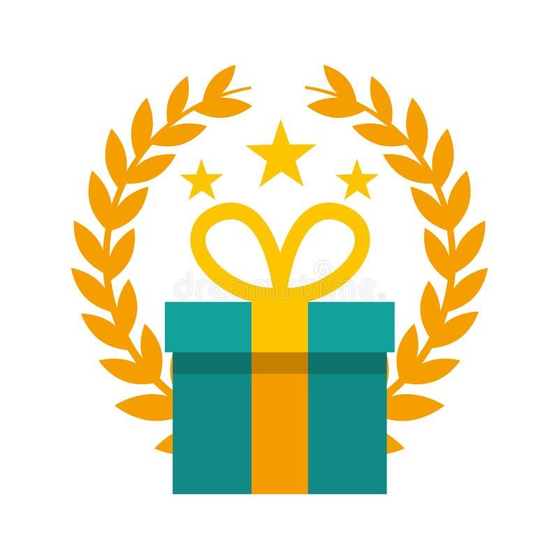 symbol för gåva för gåvaask vektor illustrationer