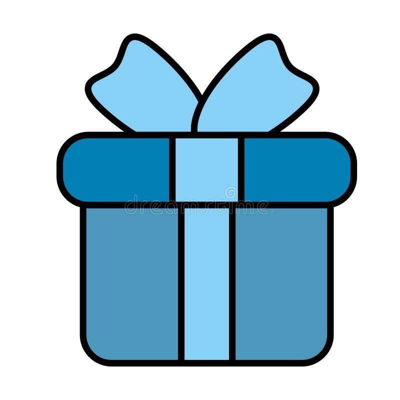 symbol för gåva för gåvaask stock illustrationer